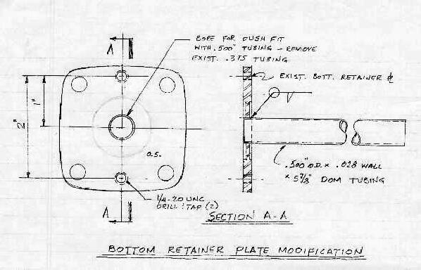 Bottom Retainer Plate Modification