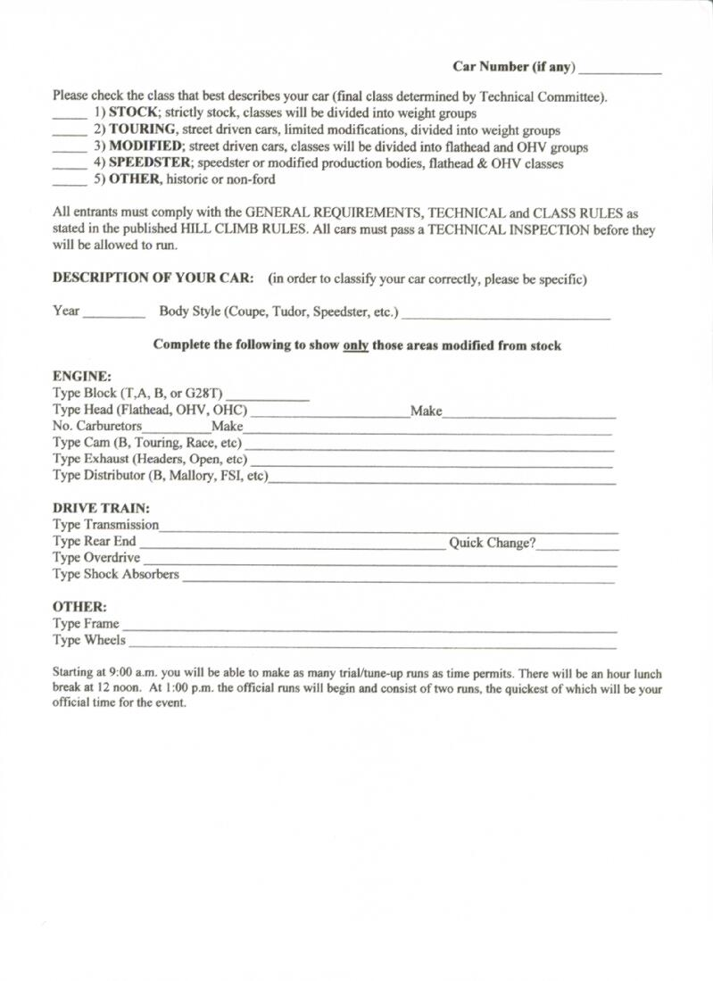 Spindale Registration Form, page 2