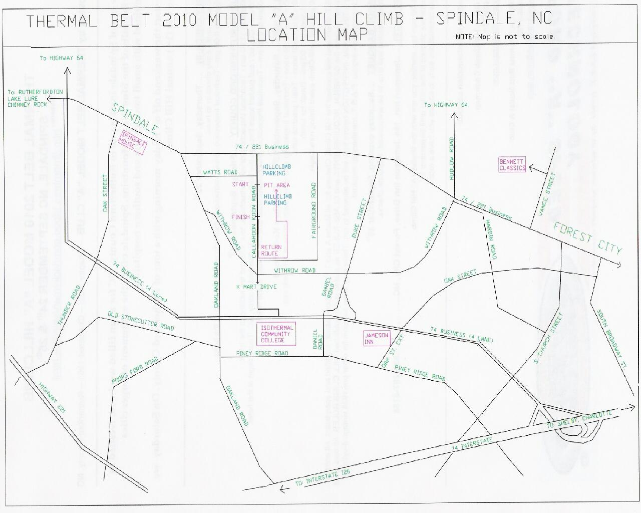 Spindale Area Map
